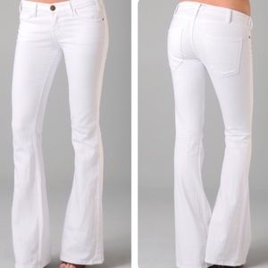 Current/Elliott White Flare - The Low Bell Jeans